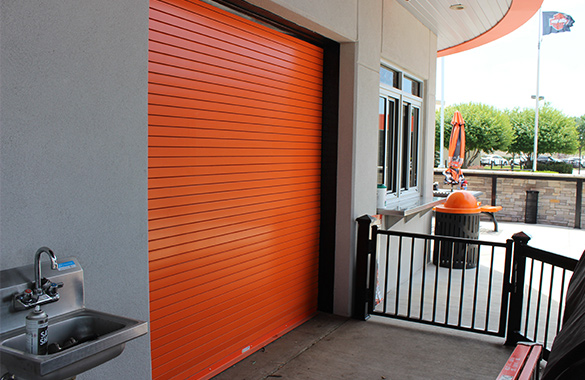 Rolling steel doors austin houston tx abc doors for Abc garage doors houston