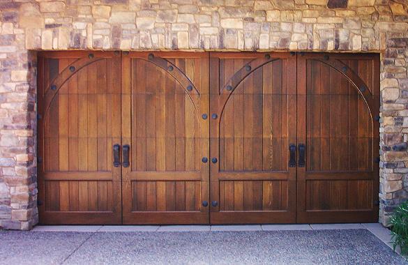 Wood Carriage House Doors Austin, Wood Garage Doors Houston
